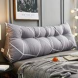 HGDR Triangular Wedge Bedside Cushions Bett-Rückenkissen Großes Kopfteil Rückenstützkissen Lesekissen für die Lendenwirbelsäule mit abnehmbarem Baumwollbezug,B-80 * 20 * 50 cm