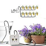 sPlant [Upgraded] 5V USB-Tropfbewässerungsset, Selbstbewässerungssystem für Zimmerpflanzen mit programmierbarem Timer für 0,5-30 Tage, für 10 Topfpflanzen, Bewässerung an Arbeitstagen