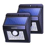 GXZOCK 30 Führte Solarleuchten, Super Helle LED-Sicherheitsbeleuchtung Im Freien Bewegungssensor Solarscheinwerfer-Flutbeleuchtung Für Garten, Terrasse, Fechten Und Weg - 2 Pack