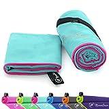 NirvanaShape  Mikrofaser Handtücher   saugfähig, leicht, schnelltrocknend   Badehandtücher, Reisehandtücher, Sporthandtücher   Ideal für Reisen, Fitness, Yoga, Sauna