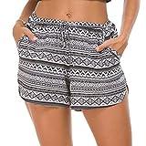 EXCHIC Damen Sommer Hot Pants Böhmen Strandshorts Sommerhosen (XL, 1)