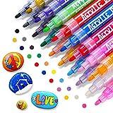 RATEL Acrylstifte Marker Stifte, 18 Farben Premium Acrylstifte Wasserfest Paint Marker Set Acrylic Paint Pens Acrylic Stifte Zum Malen Acryl Stifte für DIY Stein, Leinwand, Papier, Glasmalerei