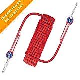 Awroutdoor Nylon Seil Klettern Sicherheitsseil Durchmesser 10.5mm mit Karabiner Lagergewicht 1200kg für Outdoor Wandern Zubehör Sport Camping