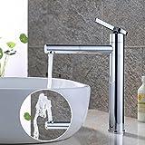 HOMELODY 360° drehbar Wasserhahn Bad hoch Waschtischarmatur Mischbatterie Waschtisch Armatur für Bad, Chrom