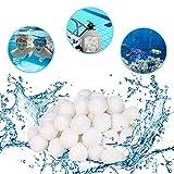 HUOHUOHUO Pool Filter Balls,500G Filter Balls für sandfilteranlagen,kartuschenfilter,hohe Wasserdurchlässigkeit, Leichter, effizienter,Filterung