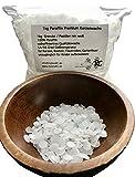 1kg Paraffin Premium Kerzenwachs rein weiß | vollraffiniertres Qualitätswachs | Granulat/Pastillen | 54/56 | Paraffin-Wachs | für Kerzen, Basteln, Feuer passt auch für DENK