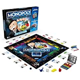 Monopoly Banking Cash-Back Brettspiel; elektronischer Kartenleser; Cash-Back Bonus; bargeldloses Zahlen; Scan-Technologie; ab 8 Jahren