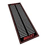 Bullet Hochwertige Turnier Dartmatte 237x80cm in Check-Out Rot