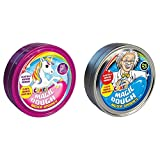 CRAZE 58917 - Intelligente Superknete, Magic Dough Unicorn, Circa 80 g in Dose, BPA- und glutenfrei, Sortiert & 58856 - Intelligente Superknete, Magic Dough, 80 g in Dose, BPA- und glutenfrei