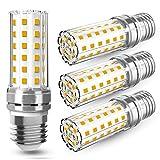 E27 LED Warmweiß 12W LED E27 Mais Birne Lampen 3000K 1450LM Ersetzt Glühbirnen 100W, Edison Schraube E27 Maiskolben Led Energiesparlampe Birnen Led Kerze Licht Glühbirne Nicht Dimmbar - 4er Pack