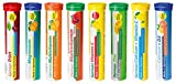 Brausetabletten Sortimentmix T&D Pharma - 8x20 = 160 German Brausetabletten - Vitamine und Mineralien in fruchtigen Geschmäckern - Made in Germany