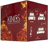 4kg Kings Shisha Kohle: 26er Kings Premium Shisha Kohle Naturkohle Hochwertige Kokoskohle Briketts für Wasserpfeife & Grill - Shisha Würfel Kohlen & Grillkohle