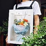 CRITY Geschenktüte, Durchsichtig Einkaufstasche Creative Weihnachten Blumentasche Hochzeit Umweltschutz Verpackungsbeutel Zuhause Aufbewahrungstasche (Weiß, L)
