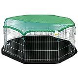 Me & My Pets Mittelgroßes Spielgehege mit Bodenmatte und Sonnenschutzdach