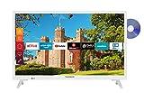 Telefunken XH24J501D-W 24 Zoll Fernseher (Smart TV inkl. Prime Video / Netflix / YouTube, HD ready, DVD-Player, Works with Alexa, Triple-Tuner) [Modelljahr 2020]