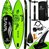 KESSER® Aufblasbare SUP Board Set Stand Up Paddle Board | 320x76x15cm 10.6' | Premium Surfboard Wassersport | 6 Zoll Dick | Komplettes Zubehör | 130kg, Grün