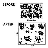 Laileya Wand-Aufkleber Poster Paster Tattoo Tapeten-Dekor-Katze-Ausgang Zeichnung Hochzeit Raumdekoration Küchen-Fliese