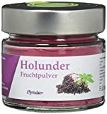 HOLUNDER PULVER   reines Holunder Fruchtpulver im hochwertigen Glas   70 Gramm   Premium Qualität aus Deutschland