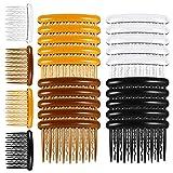 Auidy_6TXD 24 Stück Haarspange Kämme Kunststoff Haarkämme für Feines Haar und Brautschleier (4 Farben)