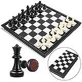 Peradix Schachspiel Magnetischem Einklappbar Schachbrett Schach für Kinder ab 6 Jahre und Erwachsene,Mehrweg (Einfach zu tragen)