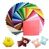 60 Farben Filzstoff 15 x 15cm Bastelfilz Filz Blätter Polyester Felt Fabric DIY Stoff filzplatten