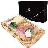 GLASWERK Aufschnittbox aus Bambusholz und Borosilikatglas - perfekte Aufbewahrung von Wurst- und Käseaufschnitt - Wurstbox für den Kühlschrank