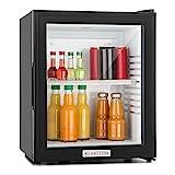 Klarstein MKS-12 - Minibar, Mini-Kühlschrank, Getränkekühlschrank, A, 24 Liter, geringer Energieverbrauch, ca. 38 x 47 x 38 cm (BxHxT), 30 dB leiser Betrieb, schwarz