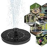 Coquimbo Solar Springbrunnen, Solar Teichpumpe Garten Wasserpumpe Solarpumpe mit 1W Monokristalline Solar Panel, Schwimmender Dekoration für Garten, Kleiner teich, Vogelbad, Fisch-Behälter, Pool