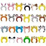 GuassLee 24er Pack aufblasbares Stirnband Niedliches Tier Stirnband Ballon Haarband für Kinder & Erwachsene Partyartikel