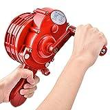 Sirenen, Tragbarer Handkurbel-Alarm, ABS Kunststoffgehäuse Manuell Bedienter Luftangriffshorn/Alarm mit Aufbewahrungstasche