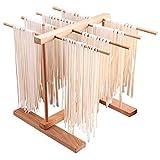 DIYARTS Pasta Drying Rack 8 Row Faltbare Buchenholz Handgemachte Frische Spaghetti Trockner Multifunktionale Küche Lagerregal Für Nudeln Tassen Handtücher