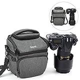 Zecti DSLR Kameratasche, Zecti Professioneller Fototasche SLR stoßfest wasserdicht Medium versenkbare Tasche mit Regenschutz für Nikon Canon Sony Kompaktkameras und Objektiv (Aktualisierte Version)