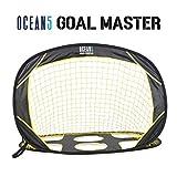 Ocean 5 Goal Master, klappbares Fußballtor, 2 in 1 Fussballtor für Garten und Spielplatz, Pop-Up-Tor, Faltbare Torwand, Indoor & Outdoor, geniales Fussball Trainingszubehör für Kinder und Jugendliche