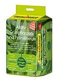Floragard Aktiv-Grünpflanzen- und Palmenerde 20 L • Spezialerde für Palmen, Farne, Ficus, andere Grün- und Zimmerpflanzen • mit 3-Monate-Langzeitdünger • zum Topfen und Umtopfen