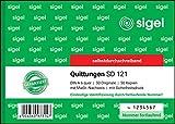 SIGEL SD121 Quittungsblock fortlaufend nummeriert, A6 quer, 50Blatt, selbstdurchschreibend