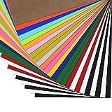 Zwanzer PlotterfolieTextil-25 PackHeatTransferVinyl30.5cm*25.4cm,16Farben,FlexfoliefürCricut&SilhouetteCameo,BONUSTeflonfürHeißePresseoderHaushaltseisenauf T-Shirts&Stoffe
