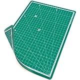 PRETEX Schneidematte im A4 Format | Material: PVC mit selbstschließender Oberfläche, beidseitig bedruckt | Maße 30x22 cm | Farbe: Grün