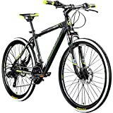 Galano 26 Zoll Toxic Mountainbike Hardtail MTB Jugendmountainbike Jugendfahrrad (schwarz/grün, 46 cm)