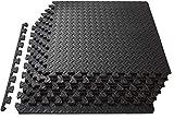 Schutzmatten Set 30 x 30 Bodenschutzmatte 20er Puzzlematten große Unterlegmatten Fitnessmatten für Sport Fitnessraum