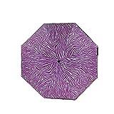 Y-S Faltbare Regenschirme Schwarzer Kleber Auswirkungsstoff Sonnencreme Anti-Ultraviolett Manuelle Dreifachfalte Regen und Sonnenschein Sonnenschirm Regenschirm Pale Pink, Rosa