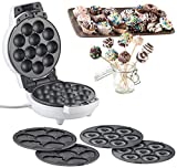 Rosenstein & Söhne Donat Maker: 3in1-Donut-, Cupcake- und Cakepop-Maker, antihaftbeschichtet, 600 Watt (Cake Maker)