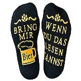 Litthing Bier Socken Lustige Socken aus Baumwolle, Wenn Du Das Lesen Kannst Bring Mir Bier, Geeignet füt Männer und Frauen Tolles Geschenk zur Party oder zum Fest