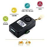 M+S Funk-Alarmanlage TG400 für Motorrad, Quad, Roller, mit Notstrombatterie und Voralarm, einfache Montage, 110 dB