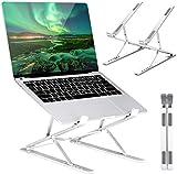 ICETEK Laptop Stand Faltbar, Laptopständer Doppelte Erhöhung Notebookständer Verstellbare Aluminium Notebook Halterung für Mac MacBook Air Pro, Tablet iPad, Lenovo, HP, Dell von 10 bis zu 17,3 Zoll
