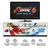WISAMIC Real Pandora's Box 6 Arcade Spielkonsole - Unterstützung 3D-Spiele, mit Full HD, Spiele Klassifizierung, verbesserte CPU, Unterstützung PS3 PC TV 2 Spieler, Keine Spiele enthalten (6 Tasten)