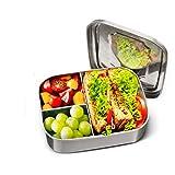 Charminer Lunchbox Edelstahl, Bento Box Edelstahl,Metal Dense Lunchbox 1000ML mit Einteiler und 3 Fächern, spülmaschinenfest, ideal für gesunde Snacks