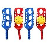 LIOOBO 2 Sätze Scoop Ball Fangspiel Fangballspiel mit Bälle Fang Ball Spiel Ballspiel Wurfspiel Kindergeburtstag Mitbringsel für Kinder Junge Outdoor Garten Rasen Party Spielzeug