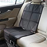 Autositzauflage zum Schutz vor Kindersitzen Isofix geeignet, Zuoao Premium Auto-Kindersitzunterlage Kindersitz Unterlage Rutschfest Pflegeleicht und Sicher Autositzschutz in universeller Passform