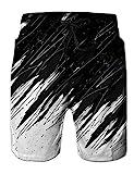 NEWISTAR Badeshorts Herren 3D Grafik Sommer Boardhose Strand Short Laufen Hosen Hawaii Surf Schwimmhose
