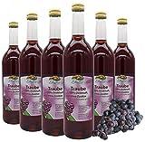 Bleichhof Traubensaft (rot) - 100% Direktsaft, naturrein und vegan, OHNE Zuckerzusatz, 6er Pack (6x 0,72l)